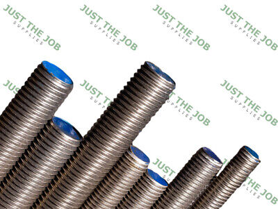 Fully Threaded Bar - A2 Stainless Steel Plated Studding Rod SS M6 M8 M10 M12 M16
