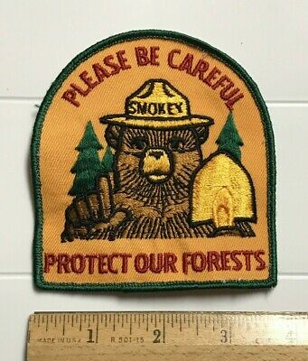 fire fighting rescue patch Smokey Bear embroidered patch design