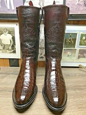 7f1acc57780 AMMONS EXOTIC AMERICAN Alligator Belly 10.5D Rare Vintage Mens Cowboy Boots