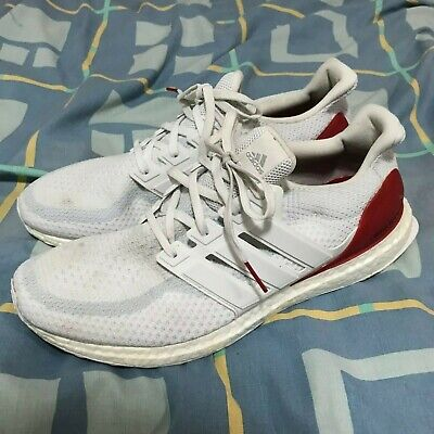 100% AUTH ADIDAS Ultra Boost 2.0 Louisville Cardinals Sz 13 Bb0803 White Red