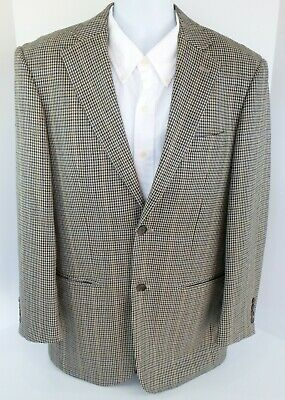 Men's Pendleton Wool Houndstooth Two Button Blazer Jacket Size 40R