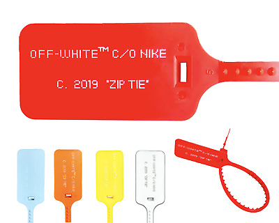 New Red Off White Zip Tie W Printed Off White Text The Ten Replacement Tie 2019