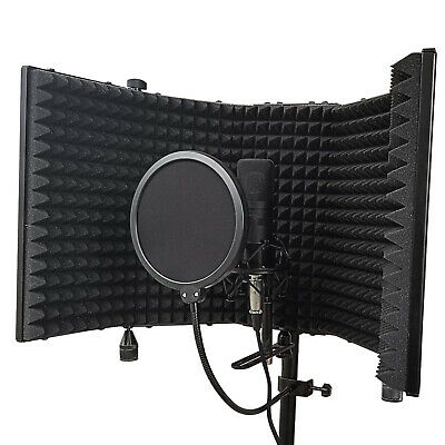Portable Microphone Shield Isolation Reflection Filter Vocal Sound Absorbing New