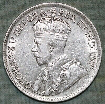 Canada 25 Cents 1919  Silver Coin - King George V