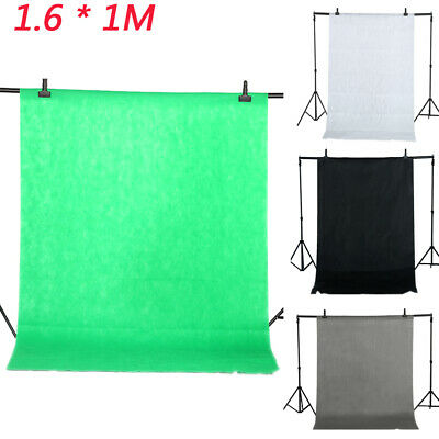 1.6*1M Photography Studio Non-woven Screen Photo Backdrop Background-4Color E2F0