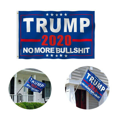 Donald Trump 2020 Flag No More BS 3x5Ft MAGA Bullshit Flag Banner Blue Flag sm