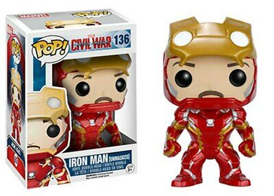 Funko Pop Marvel Civil War Hot Topic Excl Iron Man Unmasked VAULTED See Others