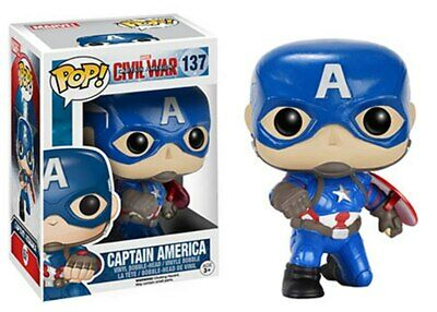 Funko Pop Marvel Civil War Gamestop Excl Captain America Action Pose VAULTED
