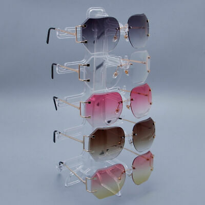 e8964e57b 5Pair Sunglasses Display Rack Eyeglass Glasses Frame Stand Organizer Show  Holder