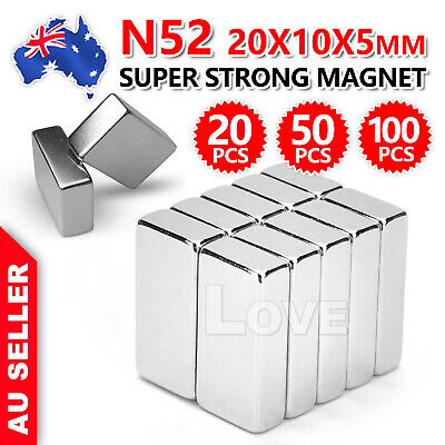 Super Strong Magnets Block Rare Earth Cuboid Neodymium 20mm × 10mm × 5mm