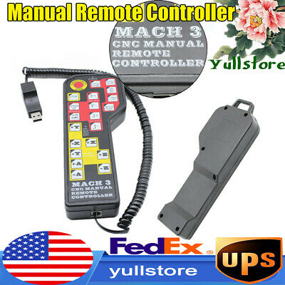 4-AXIS USB MANUAL Remote Controller Handle Wheel for Mach3