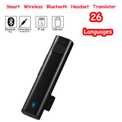 Bluetooth Multi-Language Translator Stereo Headset For Business Learning Travel