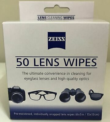 Zeiss Lens Cleaning Pre moistened with alcohol Wipes (50 pieces)