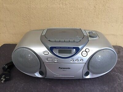 Panasonic Boombox RX-D17 Portabl Radio CD Cassette  Boom Box Works Great Post