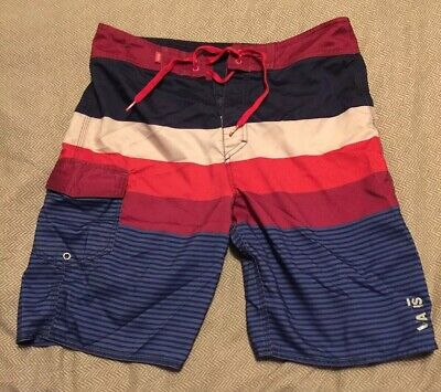 a7bc32090f Vans Off the Wall Men sz 32 Board Shorts Multi Color Stripes. Some Wear But