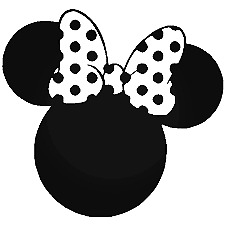 Minnie Mouse #2 Vinyl Sticker Macbook Laptop Car Window MANY COLOR CHOICES!