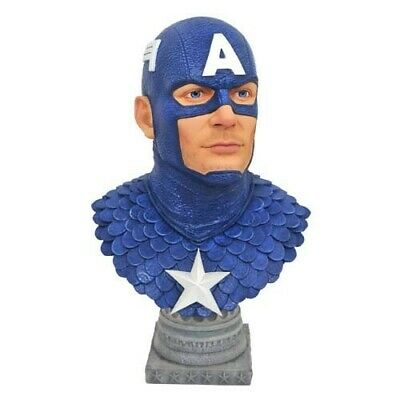 Marvel Legends in 3D Busts 1/2 Scale Captain America 1000ex Diamond Select Toys