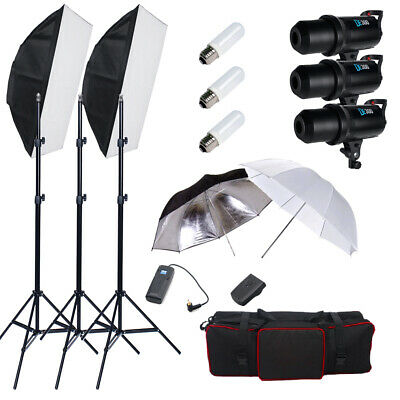 Godox 900W LED Display Studio Flash Light Strobe Soft-box Lighting Stand Kit AU