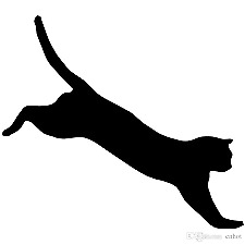 Jumping Cat Vinyl Sticker Macbook Laptop Car Window MANY COLOR CHOICES!