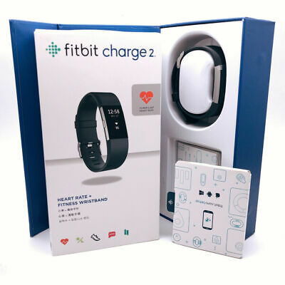 Fitbit Charge 2 HR Heart Rate Monitor Fitness Wristband/Activity Tracker LARGE