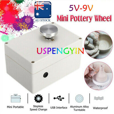 5V 45mm Mini USB Electric Pottery Wheel Machine Ceramic Clay Art Craft Work Tool