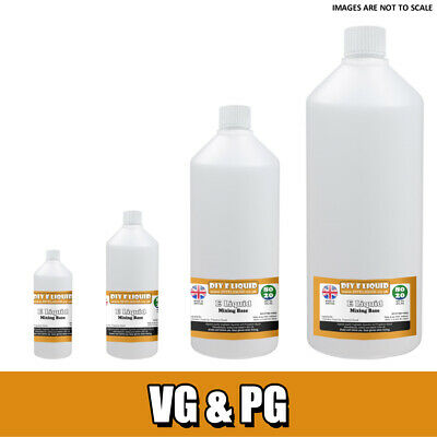 Vegetable Glycerine & Propylene Glycol Premixed DIY Liquid Base Mixes PG VG Base