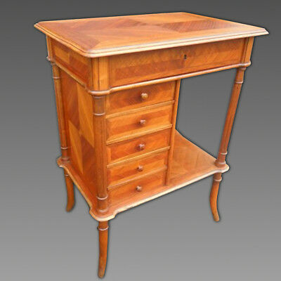 Antique small Table chest of drawers in Walnut - 19th century