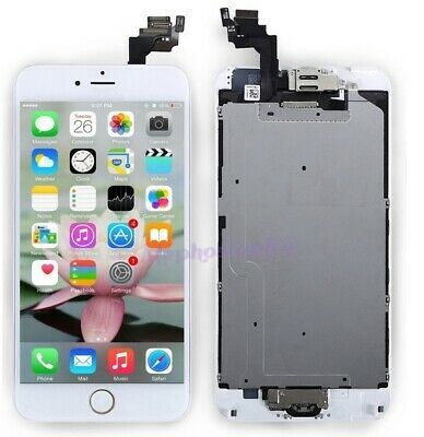 Pantalla Completo iPhone 6 Plus LCD Display Tactil Digitalizador+BOTÓN Blanco