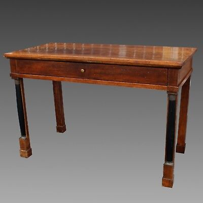 Antique Empire Console Table writing desk in Walnut - Italy 19th century