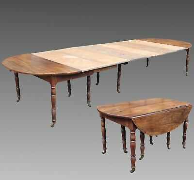 Antique Louis Philippe extendible Table in Walnut (L.534) - 19th century