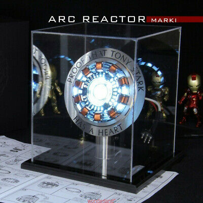 Iron Man Arc Reactor MK1 Tony Stark Heart LED USB DIY Model Figure Movie Prop AA