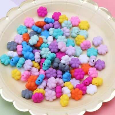 Double-Faced Flower Silicone Beads Teething Beads DIY Jewelry Teether BPA Free