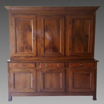 Empire Sideboard Dresser Cabinet Cupboard Bookcase (L237) in Walnut 19th