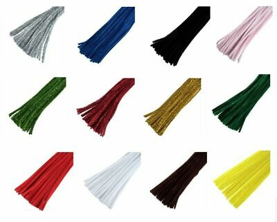 Trimits Chenille Craft Pipe Cleaners 30cm x 6mm - Plain x 30 or Glitter x 20