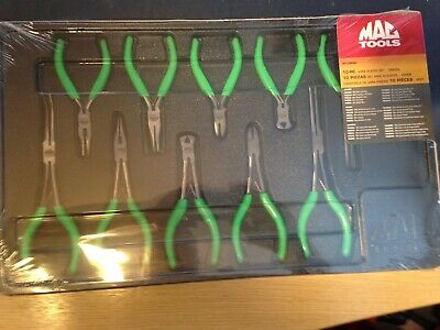 mac tools 10pc mini  pliers set   green