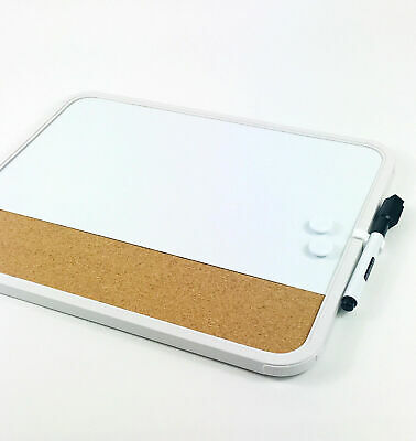 Whiteboard Magnetic Cork Combi Dry Wipe Marker Magnets  Wall Mount Office Board