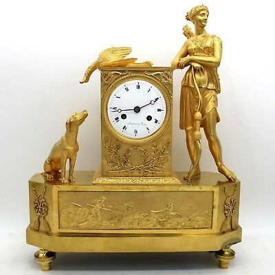 Antique Directoire Pendulum mantel Clock ormolu in Bronze - 18th century