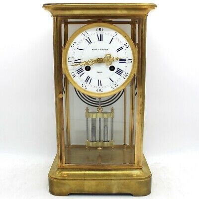 Antique Pendulum mantel Clock ormolu in Bronze - 1900 ca.