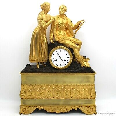 Antique Charles X Pendulum mantel Clock ormolu (H.55) in Bronze - 19th century