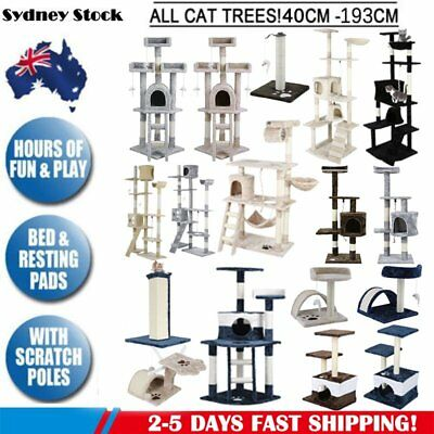 Cat Tree Scratching Post Scratcher Pole Gym Toy House Furniture Multi Level Auss