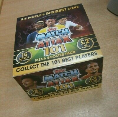 Topps Match Attax 101 Best Players MEGA Trading Cards 10 25 50 packs or Box
