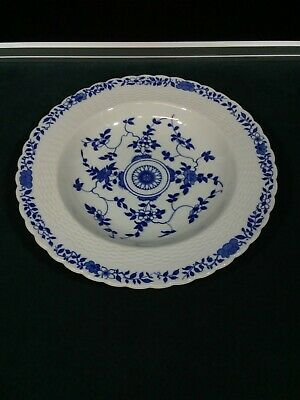 "Antique Minton Blue & White Shallow Bowl 10 1/4""....19th century"