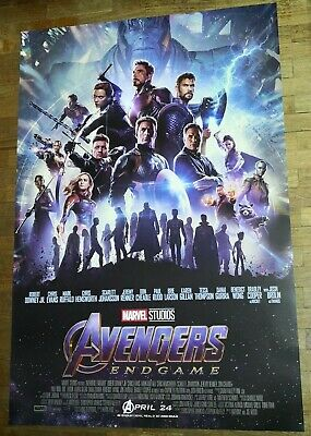 Marvel Avengers ENDGAME 2019 Original 27x40 Double Sided Int'l Movie Poster B