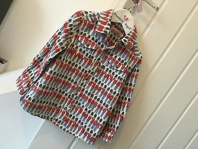 Cath Kidston Kids Boys Soft Brushed Cotton Soldier Print Shirt 1 To 2 Years