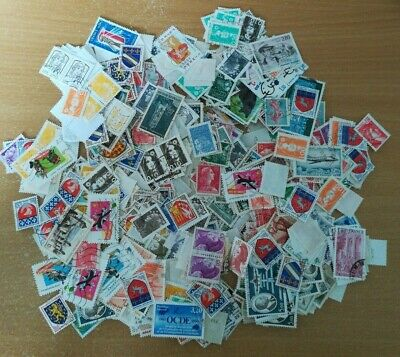 Lot timbres France oblitérés + de 600