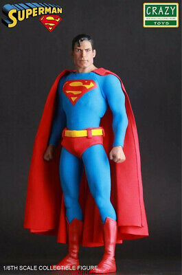 "Crazy Toy Dc Classic Superman 1/6th Action Figure 12"" PVC Statue Collection"