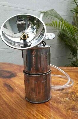 Acetylene Gas Or Carbide Lamps Stainless - Steel Rare  Good Condition.