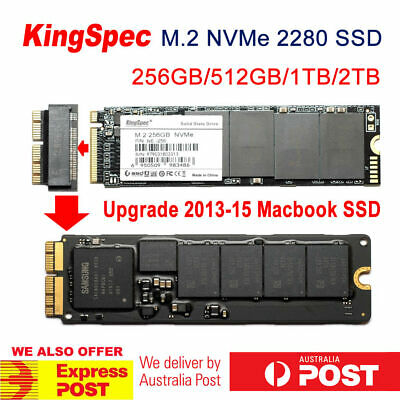 KingSpec M.2 NVMe 1TB SSD with Adapter for 2013/14/15 Macbook Pro SSD Upgrade