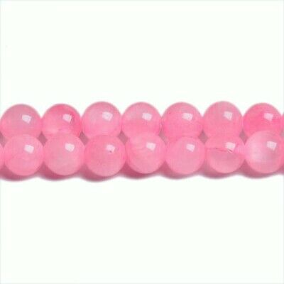Mashan Jade Round Beads 6mm Pink 10 Pcs Gemstones DIY Jewellery Making Crafts