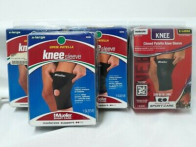 741cab154e 4 Mueller Sport Care Knee Sleeve Xl 3 Open Patella & 1 Closed Patella  Moderate